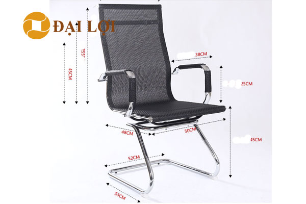 kích thước Ghế chân quỳ lưới GL410