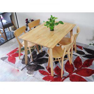 Bộ bàn ăn Moontrap 4 ghế gỗ tự nhiên
