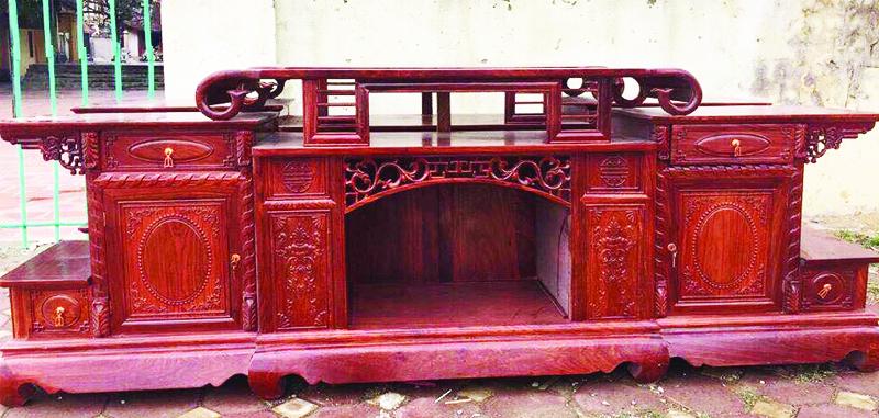 Kệ tivi gỗ hương đỏ