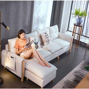 sofa nỉ phòng khách 501