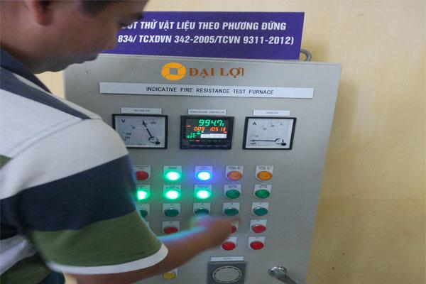 Kết quả đo test chống cháy, cách nhiệt ở nhiệt độ 1000 độ C