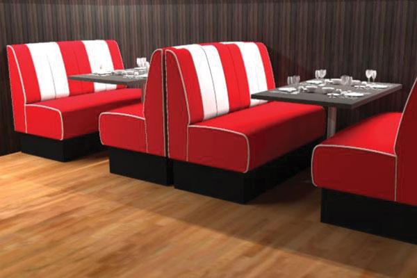 Màu sắc sofa sẽ làm nổi bật quán cafe của bạn và cũng là màu nhận diện thương hiệu