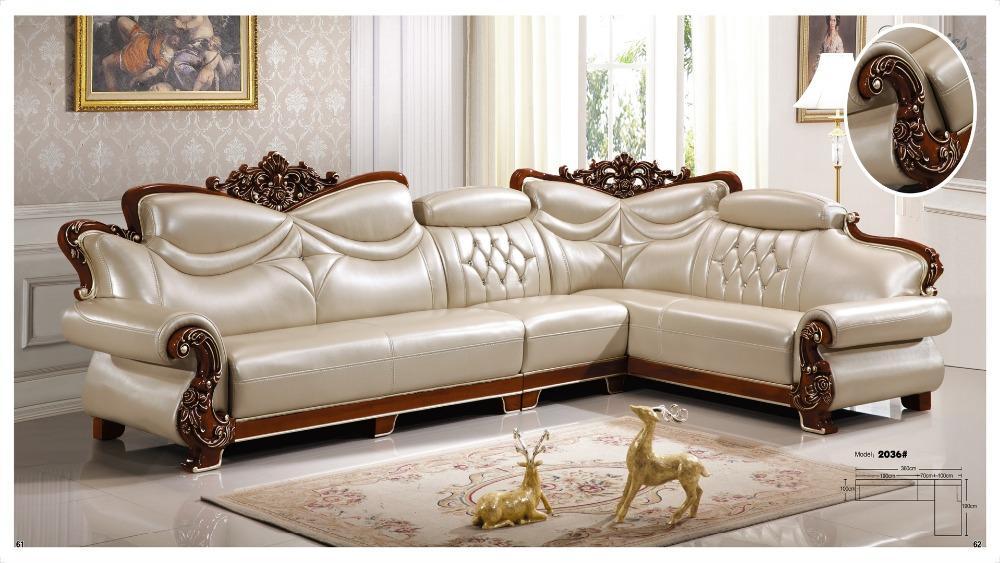 Mẫu 15 sofa da tân cổ điển cao cấp
