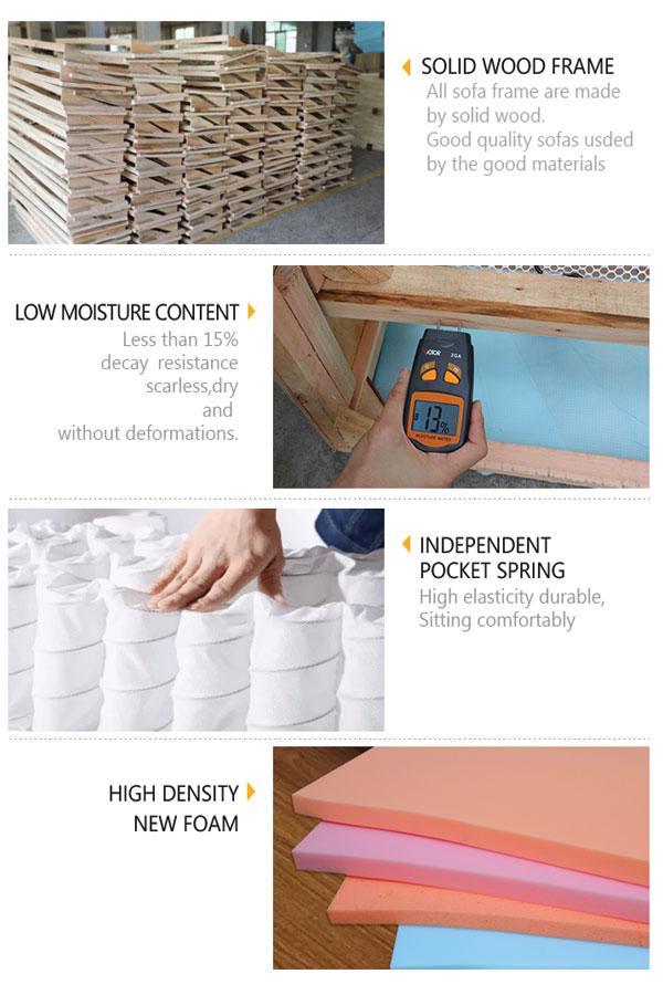 Khung sofa là gỗ sồi, chi tiết tinh tế đến từng khâu trong sản xuất thiết kế sofa