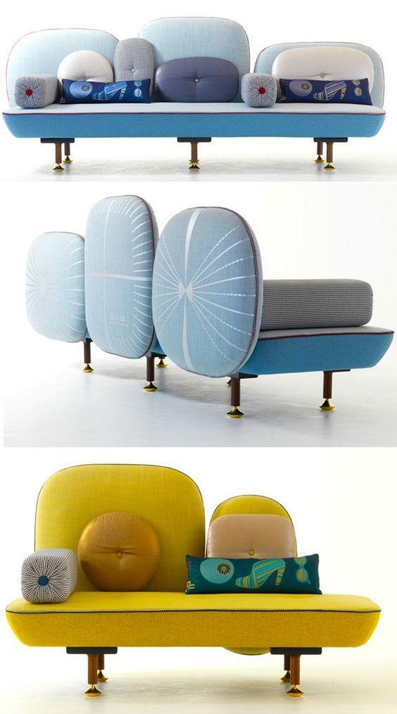 Mẫu sofa nghệ thuật hình lá cây
