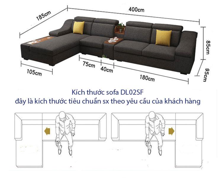 Sofa nỉ phòng khách DL-02SF