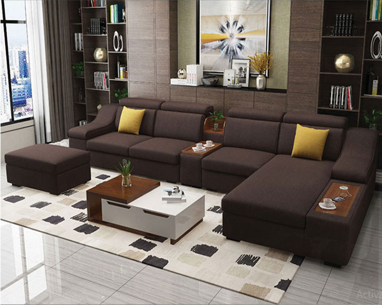 Sofa nỉ DL-02SF màu cafe