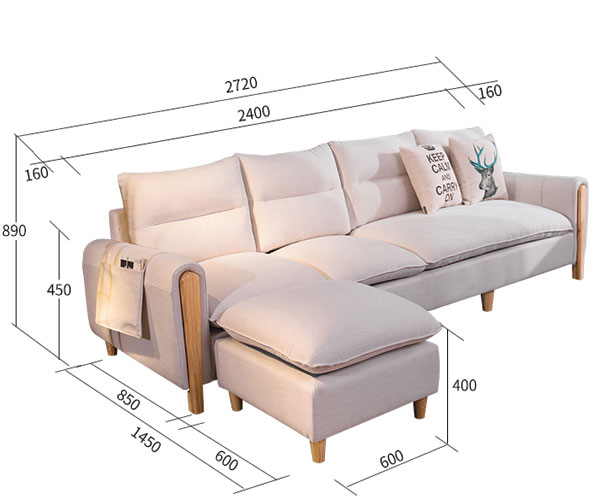 Sofa phòng khách nỉ 501