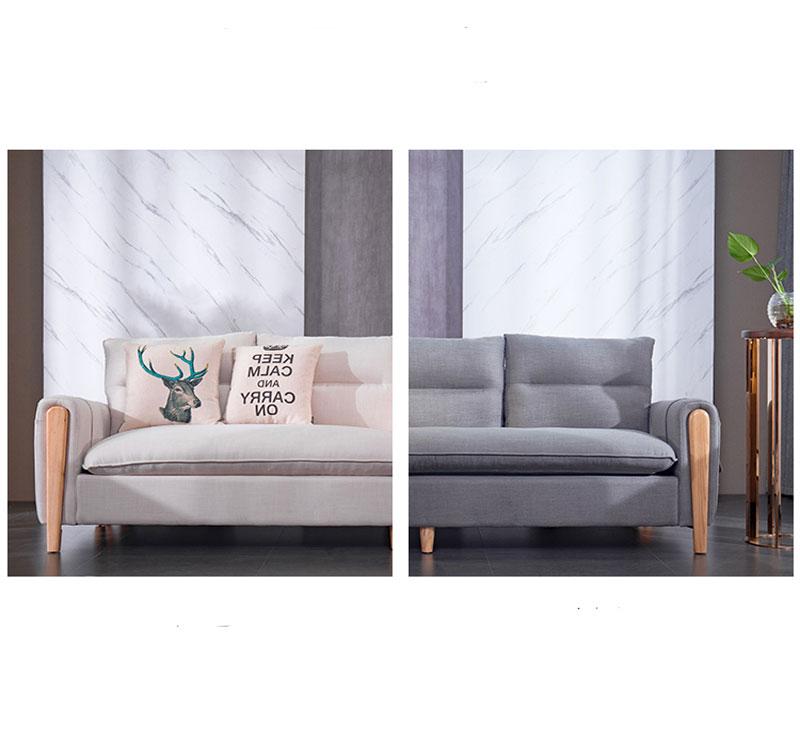 thiết kế sofa nỉ nhiều màu sắc