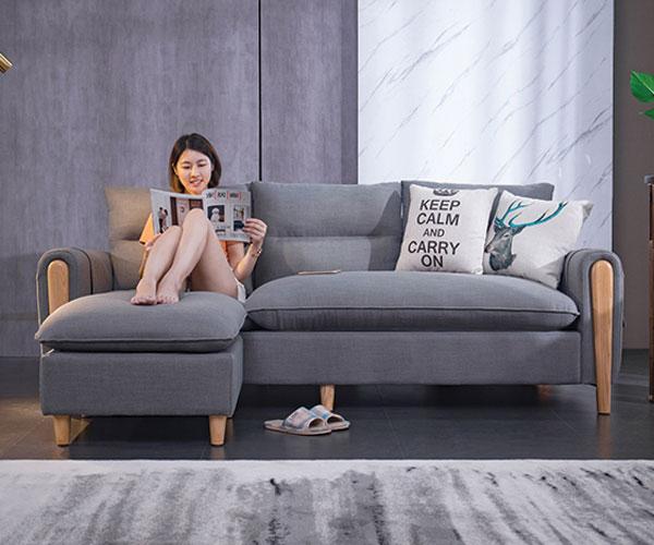 Sofa phòng khách nỉ 501 màu lông chuột
