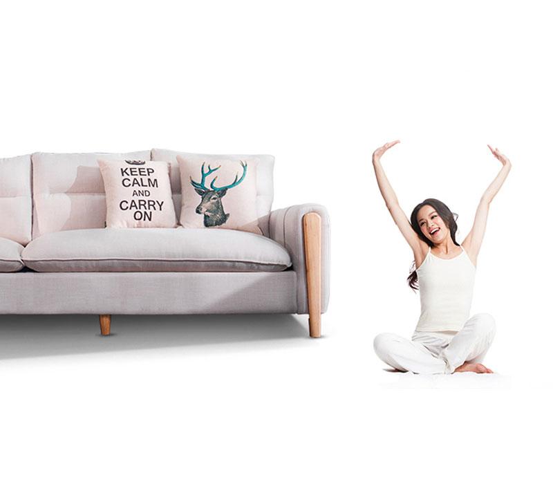Sofa nỉ 501 mang đến cảm giác thoải mái, năng lượng cho phòng khách