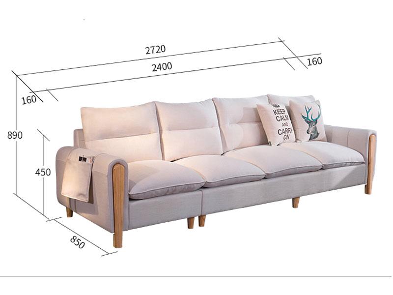 Kích thước sofa nỉ 501