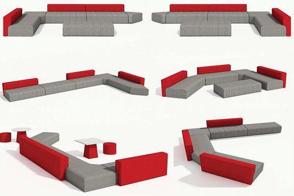 Thiết kế này cho phép sắp xếp một cách linh hoạt cho phòng chờ và tiếp khách thêm ấn tượng