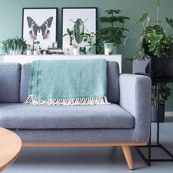 Sofa kết hợp với đệm gối