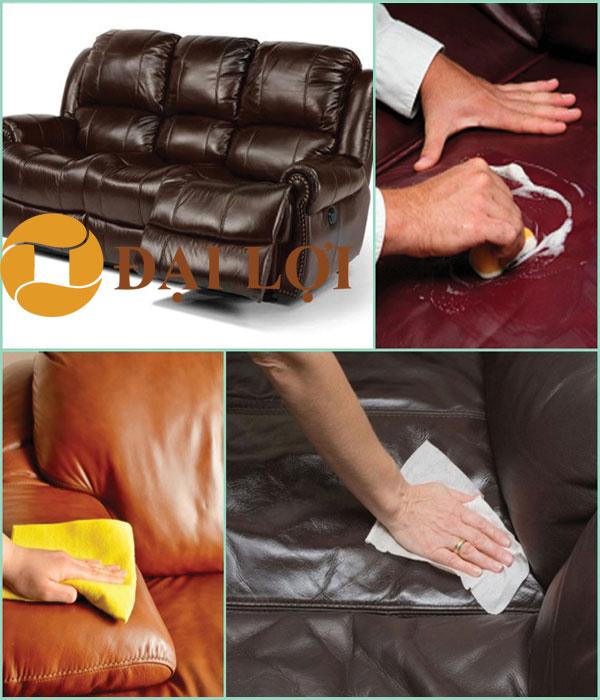 Vệ sinh sofa bằng dung dịch chuyên nghiệp
