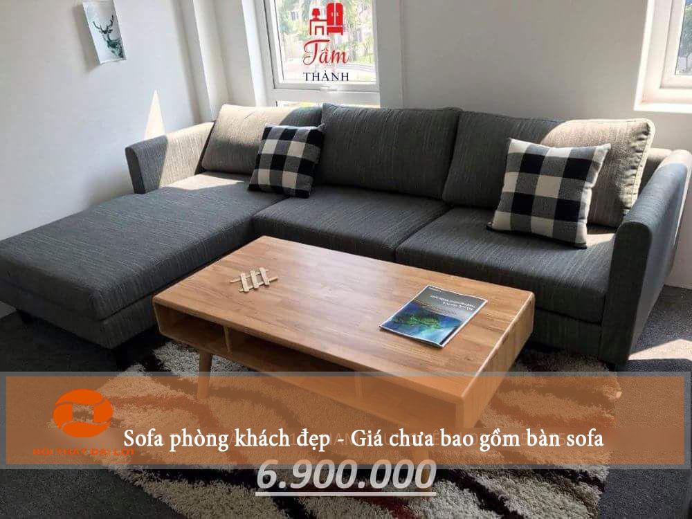 Mẫu 4 - Sofa góc phòng khách