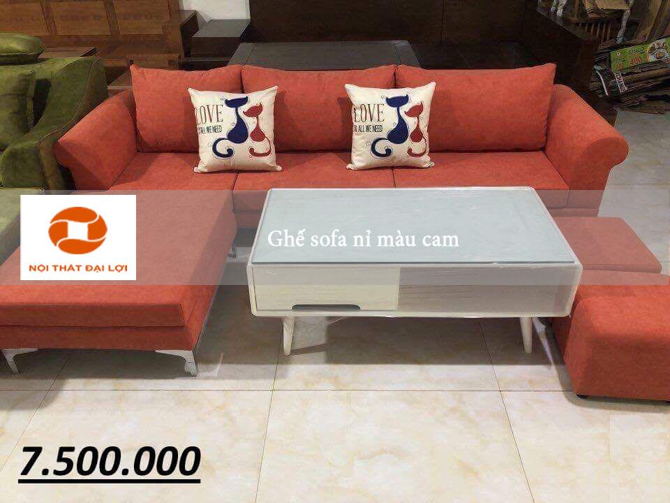 Mẫu sofa 1 - Sofa góc nỉ