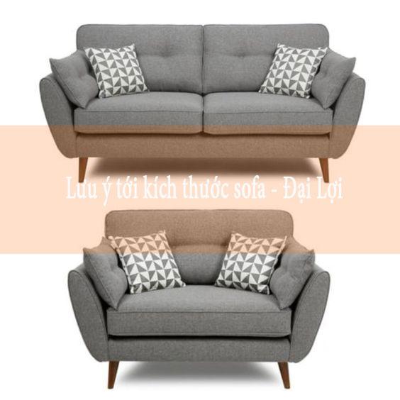 Lưu ý đến kích thước sofa thanh lý có phù hợp với không gian đặt sofa không