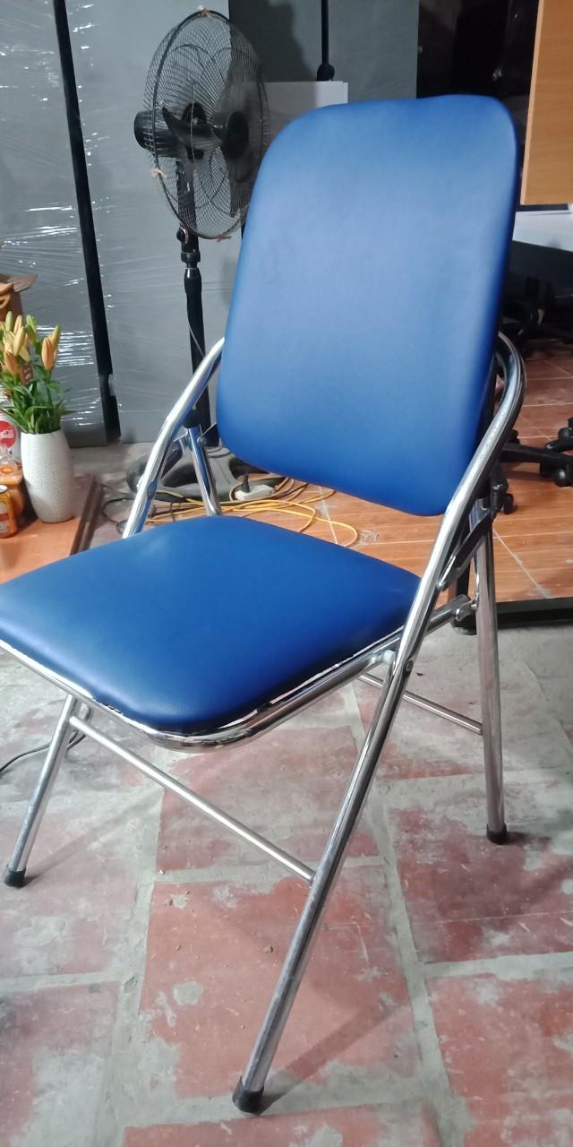 Mẫu 9: Thanh lý ghế gấp chân inox màu xanh