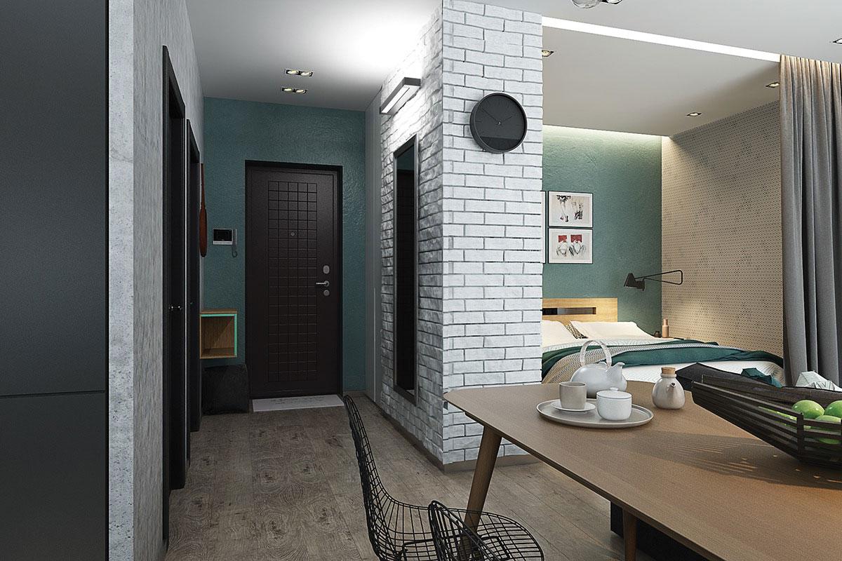 Cánh cửa thiết kế ấn tượng màu sắc độc lập với căn hộ