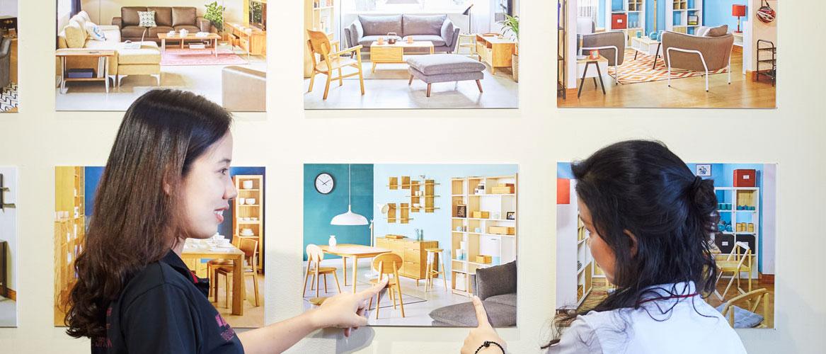 Tư vấn thiết kế nội thất cửa hàng show room trưng bày sơn