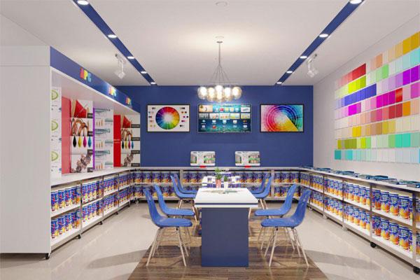 Thiết kế nội thất 400 cửa hàng sơn APG