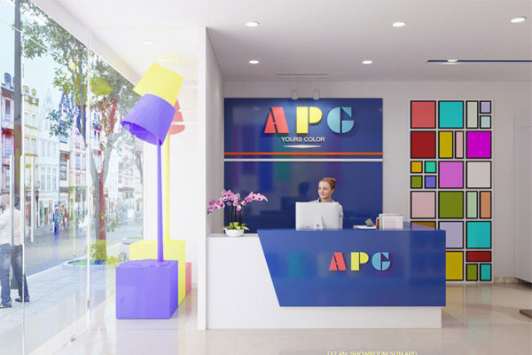 Thiết kế 400 cửa hàng sơn APG nano