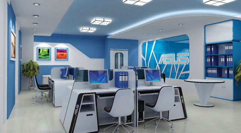 Thiết kế văn phòng công ty máy tính hiện đại