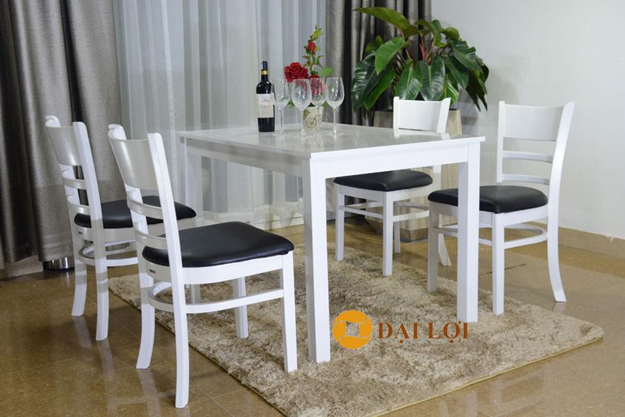 Bộ bàn ăn 4 ghế gỗ Mostar