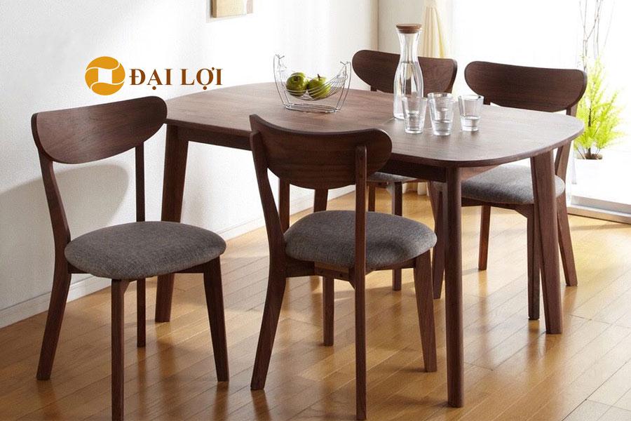 Bộ bàn ghế ăn 4 ghế hiện đại Mango