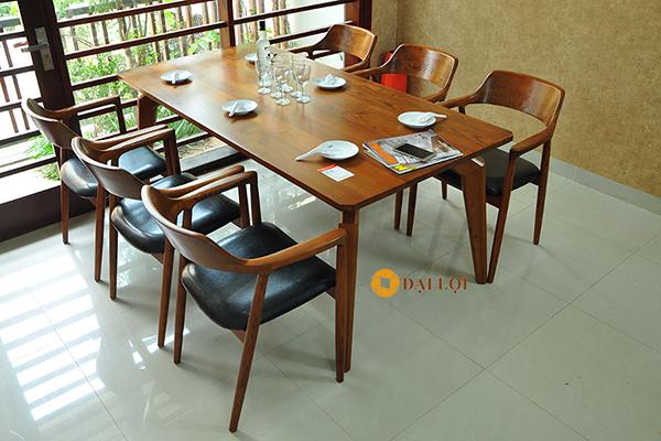 Bàn ăn 6 ghế gỗ sồi DRAGON-103