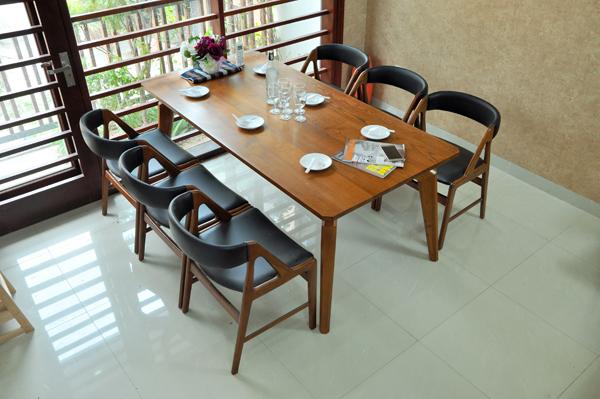 Bàn ghế ăn gỗ sồi 6 ghế DRAGON-105