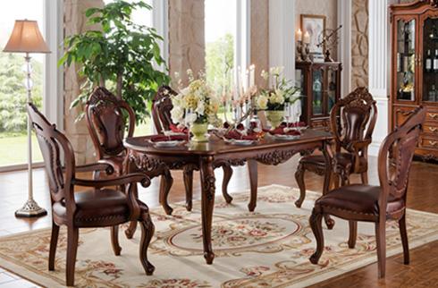Bàn ghế ăn phong cách châu âu