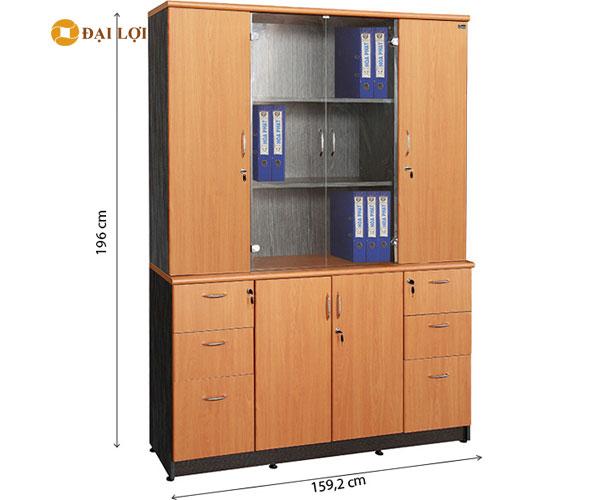 Tủ gỗ tài liệu 4 buồng