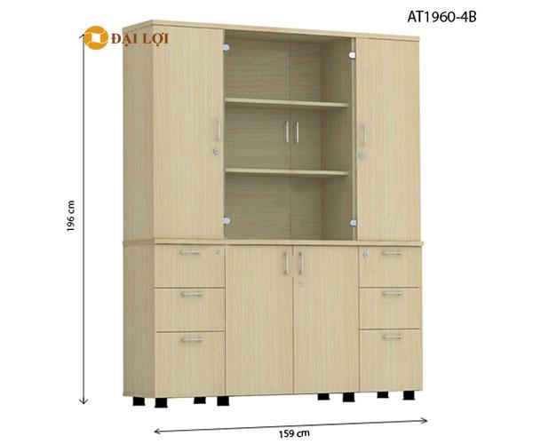 Tủ tài liệu gỗ 4 buồngAT1960-4B