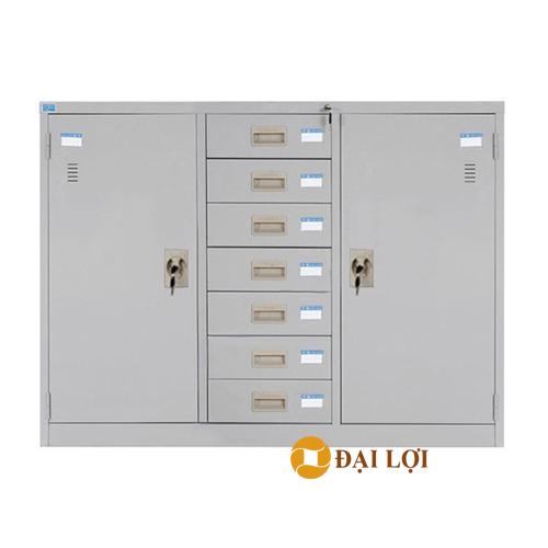 Tủ sắt tài liệu 3 buồng 7 ngăn kéo TU118-7DB