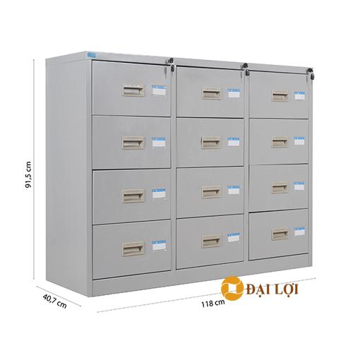 Tủ tài liệu sắt 12 ngăn kéo TU118-12D