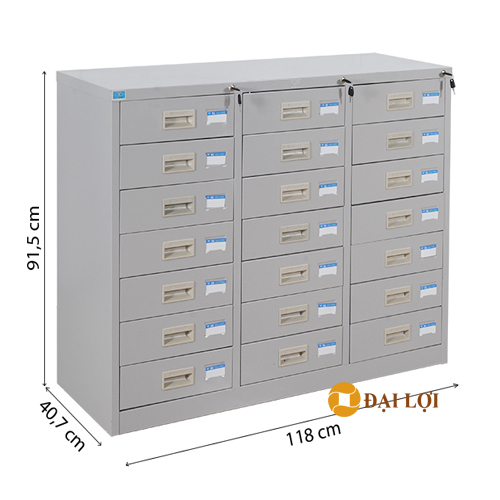 Tủ tài liệu sắt 21 ngăn kéo TU118-21D