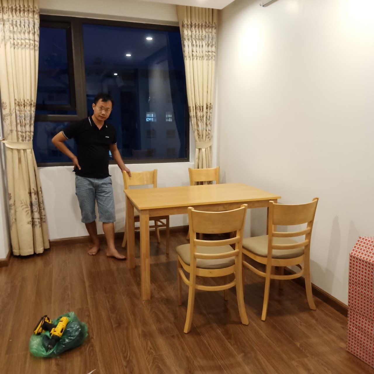 Bộ bàn ăn 4 ghế Cabin tại Nội Thất Đại Lợi